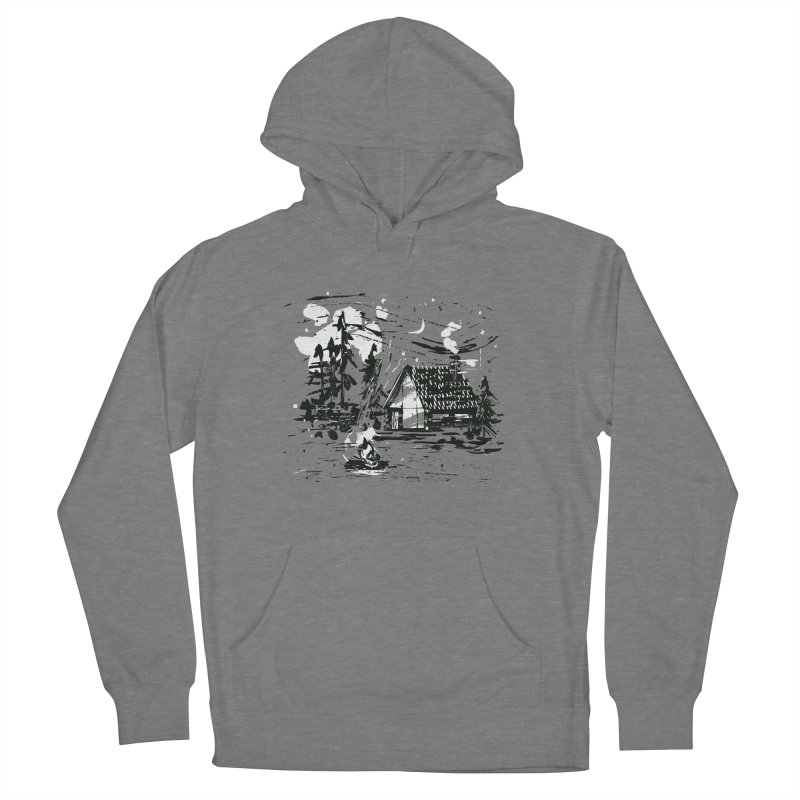 Inky Cabin Women's French Terry Pullover Hoody by Joshua Gille's Artist Shop