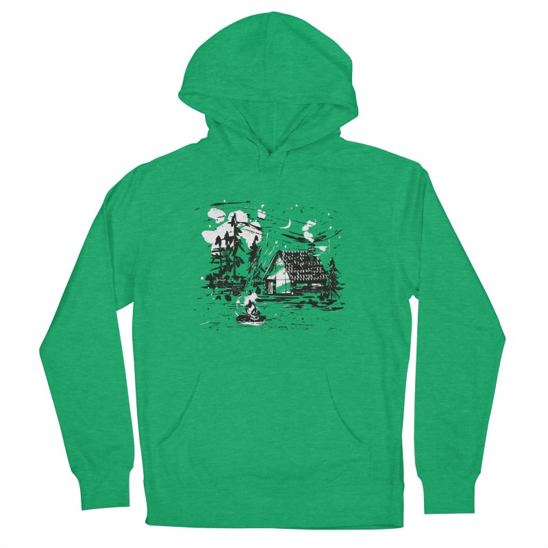 Inky Cabin Men's French Terry Pullover Hoody by Joshua Gille's Artist Shop