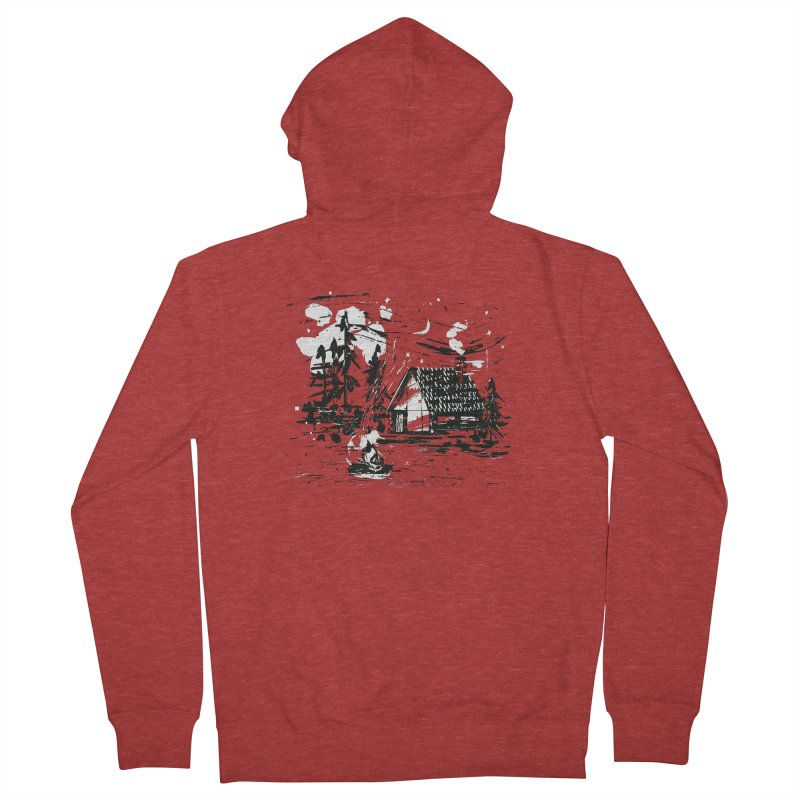Inky Cabin Men's French Terry Zip-Up Hoody by Joshua Gille's Artist Shop