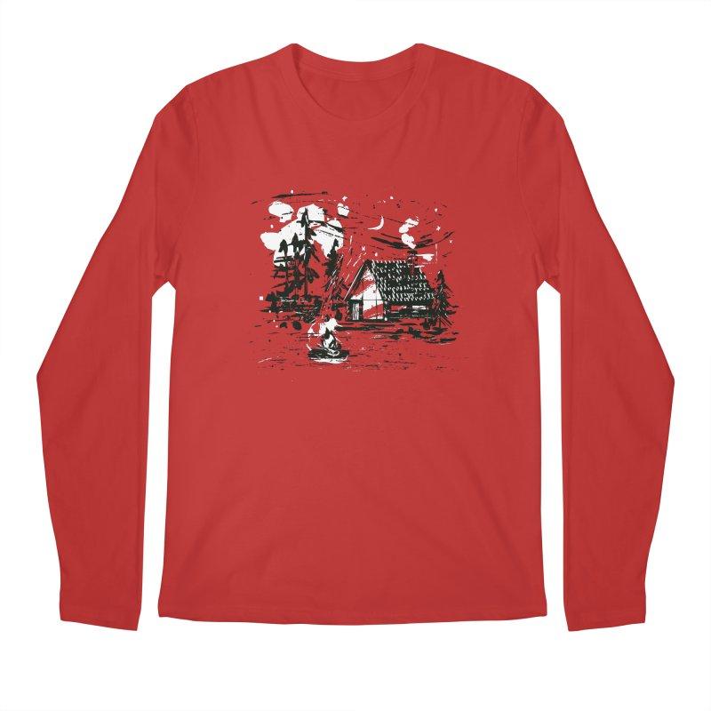 Inky Cabin Men's Regular Longsleeve T-Shirt by Joshua Gille's Artist Shop