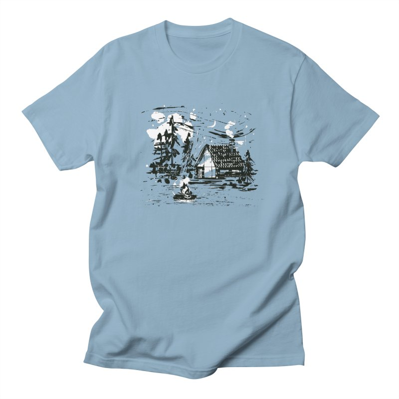 Inky Cabin Men's Regular T-Shirt by Joshua Gille's Artist Shop