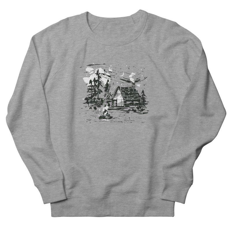Inky Cabin Women's French Terry Sweatshirt by Joshua Gille's Artist Shop