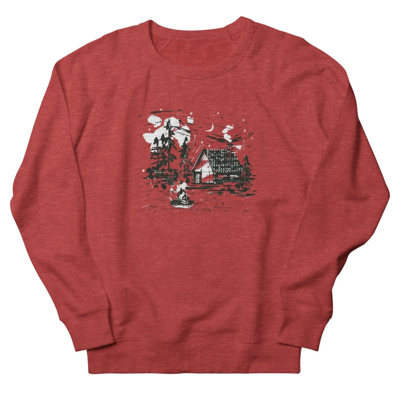 Inky Cabin Men's French Terry Sweatshirt by Joshua Gille's Artist Shop