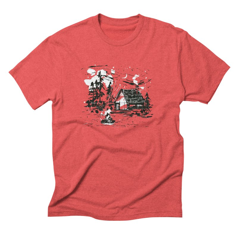 Inky Cabin Men's Triblend T-Shirt by Joshua Gille's Artist Shop
