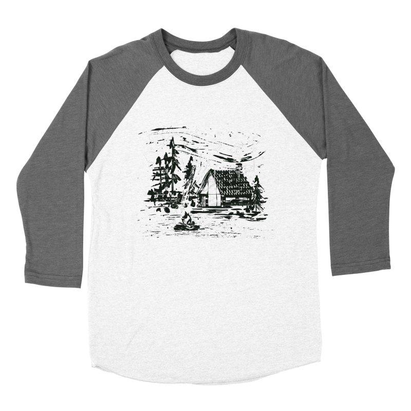 Inky Cabin Women's Baseball Triblend Longsleeve T-Shirt by Joshua Gille's Artist Shop