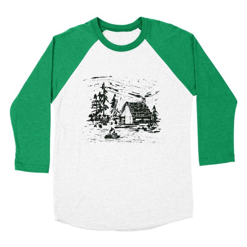 Inky Cabin Men's Baseball Triblend Longsleeve T-Shirt by Joshua Gille's Artist Shop