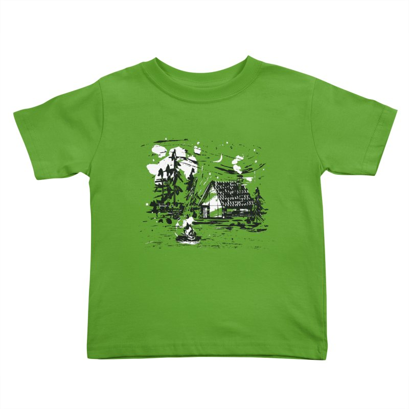 Inky Cabin Kids Toddler T-Shirt by Joshua Gille's Artist Shop