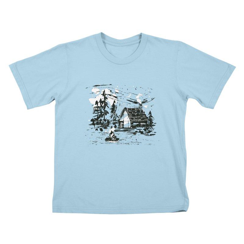 Inky Cabin Kids T-Shirt by Joshua Gille's Artist Shop