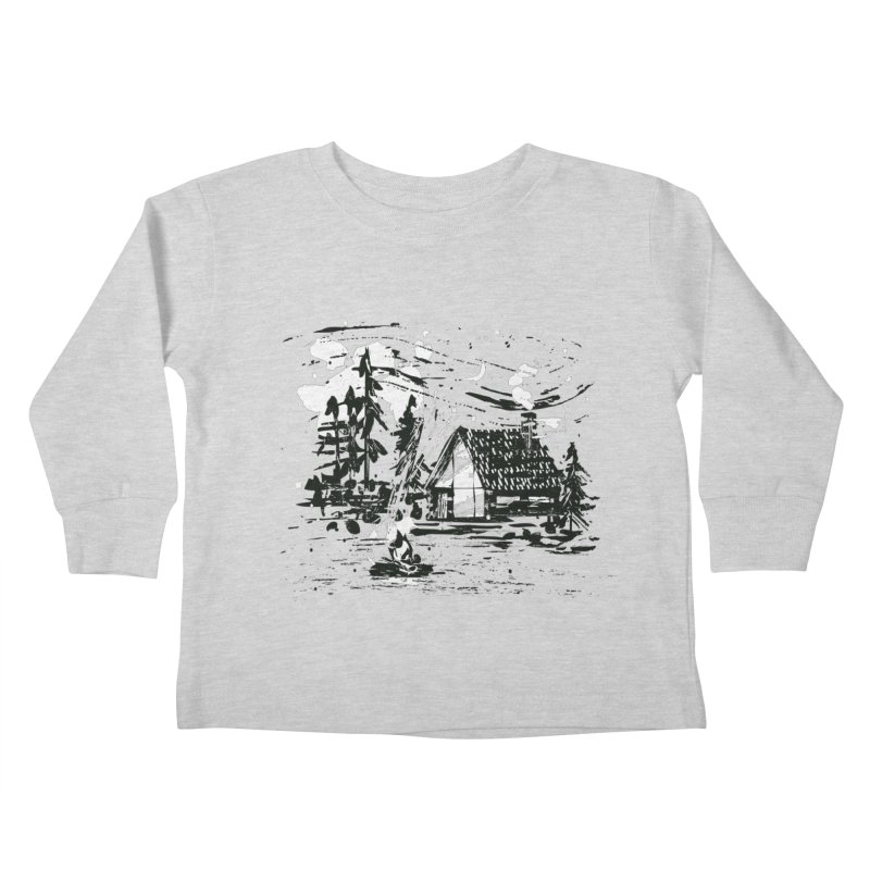 Inky Cabin Kids Toddler Longsleeve T-Shirt by Joshua Gille's Artist Shop