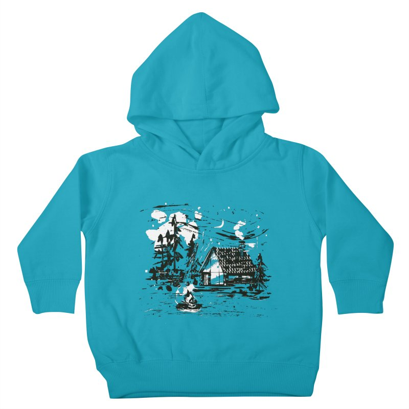 Inky Cabin Kids Toddler Pullover Hoody by Joshua Gille's Artist Shop