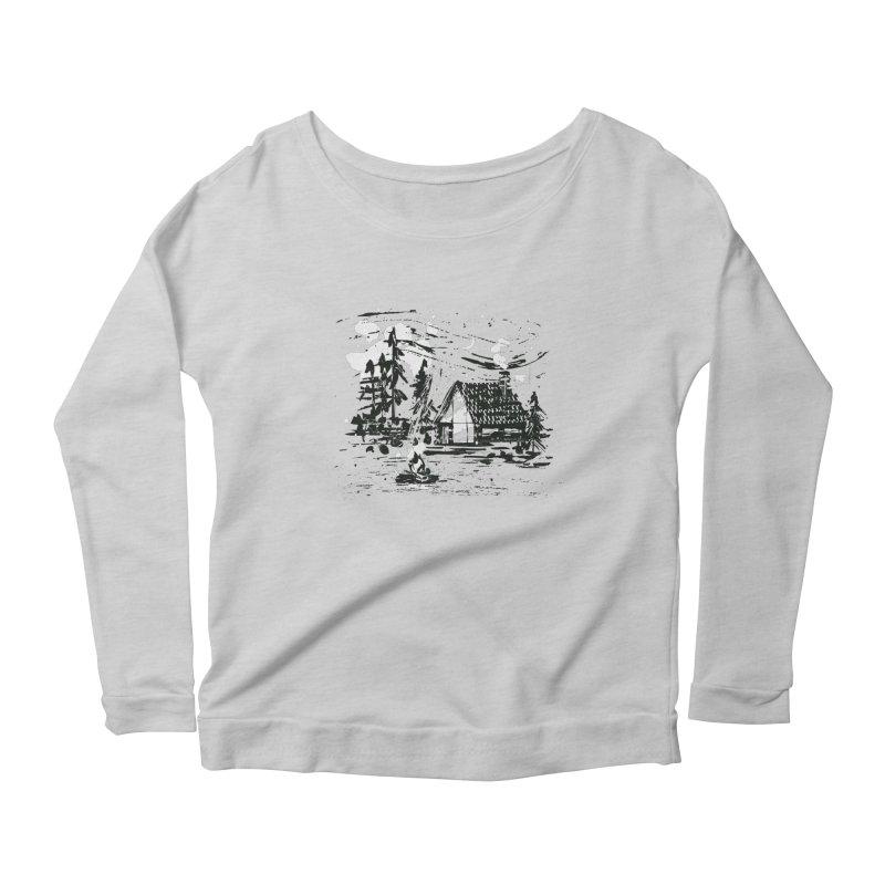 Inky Cabin Women's Scoop Neck Longsleeve T-Shirt by Joshua Gille's Artist Shop