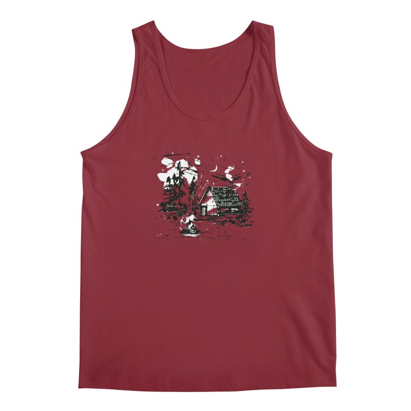 Inky Cabin Men's Regular Tank by Joshua Gille's Artist Shop