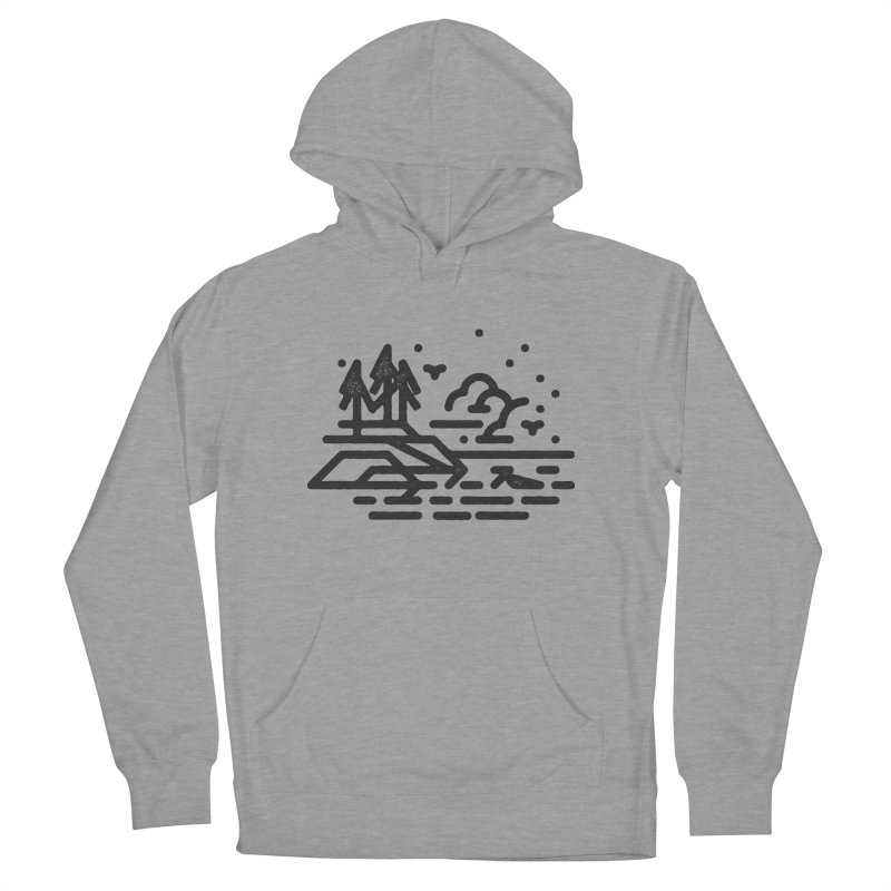 North Shore Men's French Terry Pullover Hoody by Joshua Gille's Artist Shop