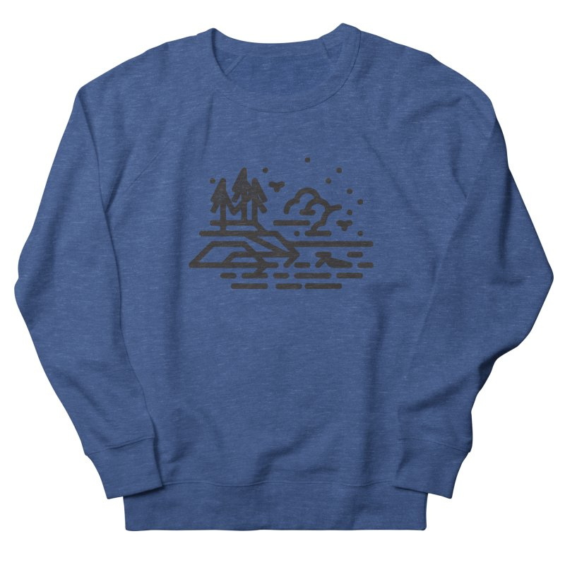 North Shore Women's French Terry Sweatshirt by Joshua Gille's Artist Shop