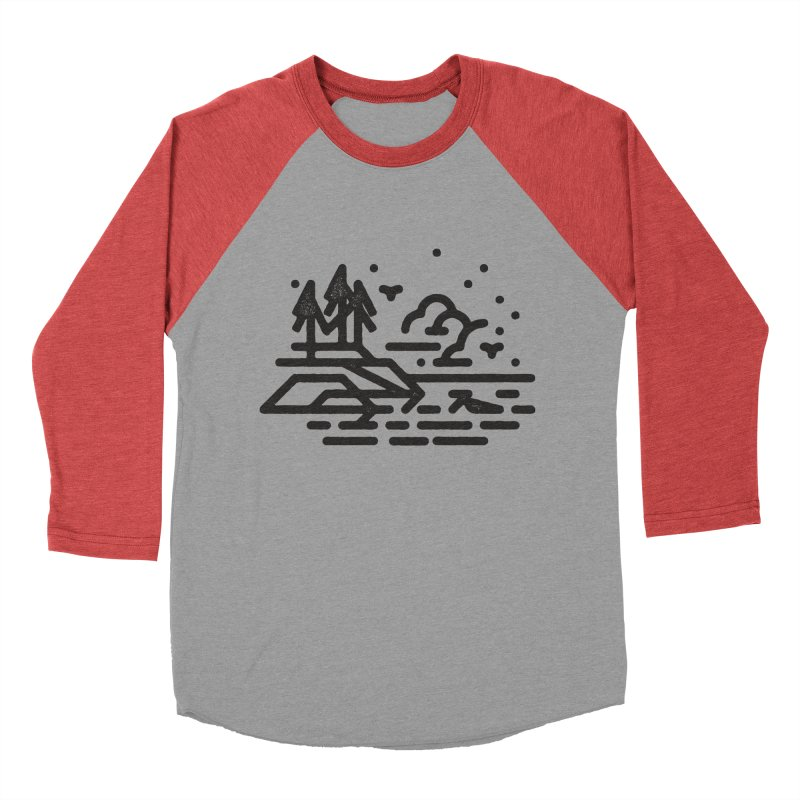 North Shore Women's Baseball Triblend Longsleeve T-Shirt by Joshua Gille's Artist Shop