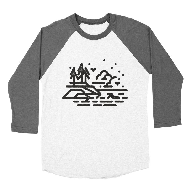 North Shore Men's Baseball Triblend Longsleeve T-Shirt by Joshua Gille's Artist Shop