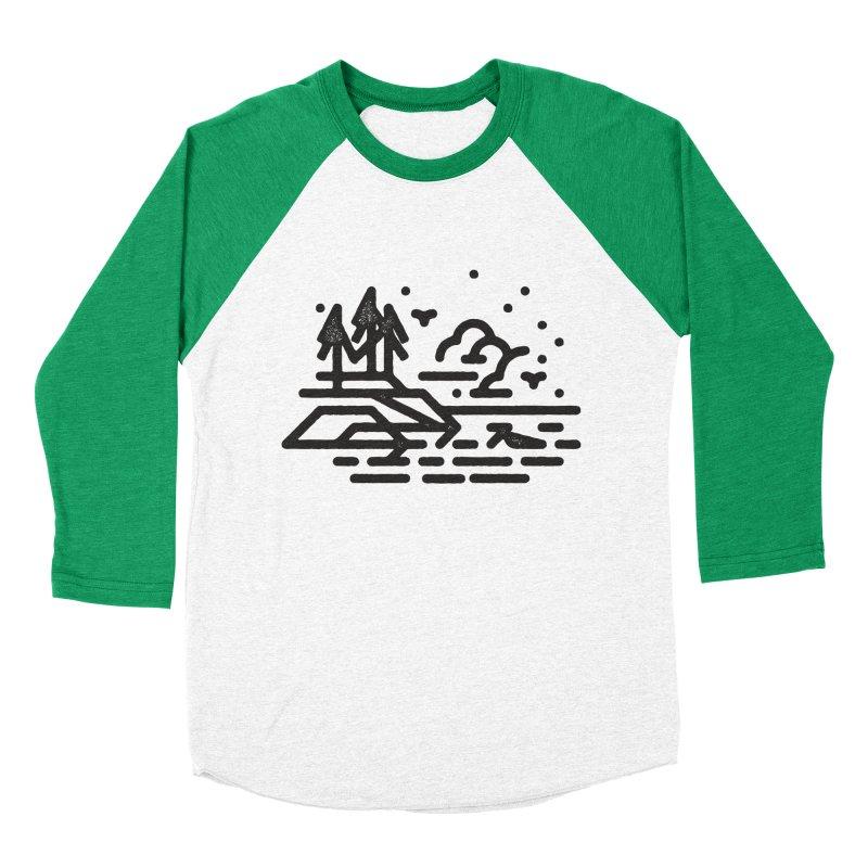 North Shore Men's Baseball Triblend Longsleeve T-Shirt by Joshua Gille's Artist Shop
