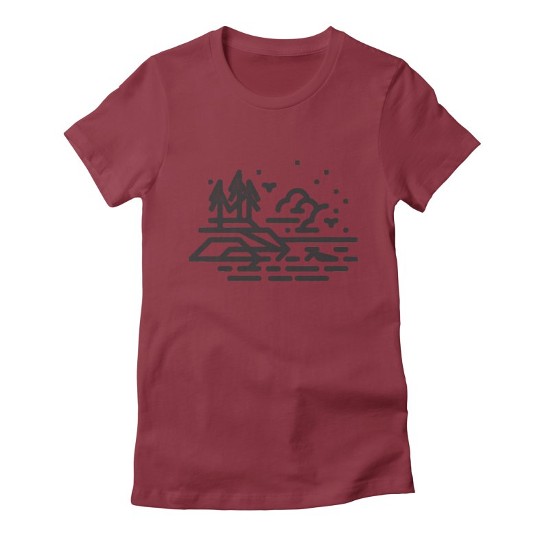 North Shore Women's Fitted T-Shirt by Joshua Gille's Artist Shop