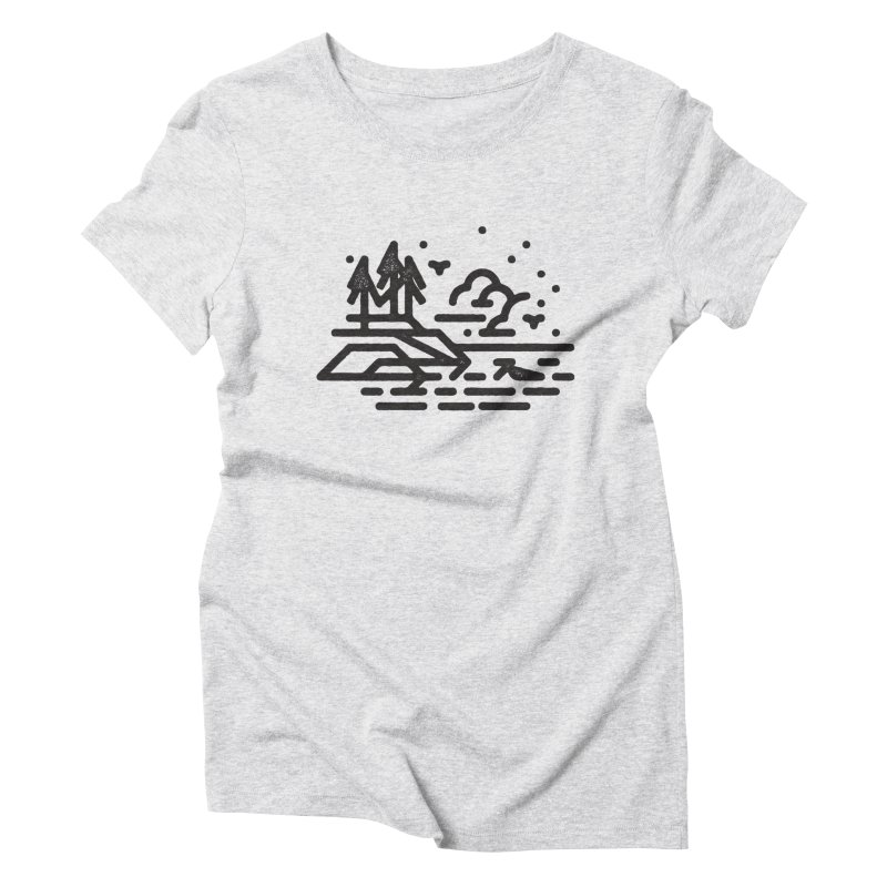 North Shore Women's Triblend T-Shirt by Joshua Gille's Artist Shop