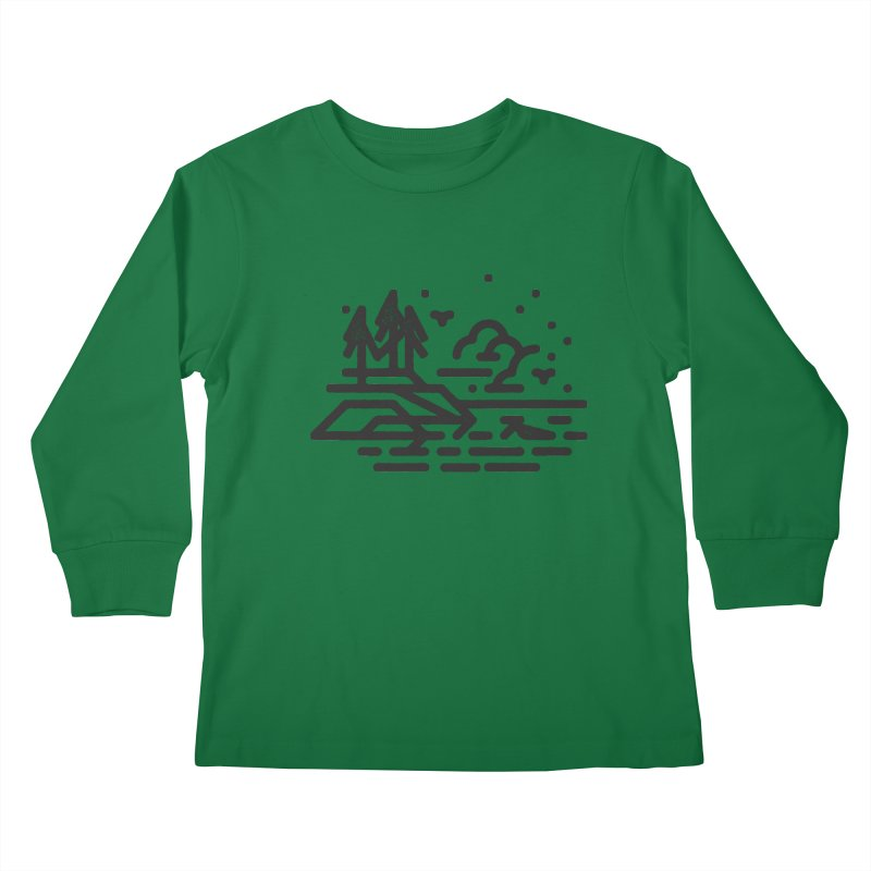 North Shore Kids Longsleeve T-Shirt by Joshua Gille's Artist Shop
