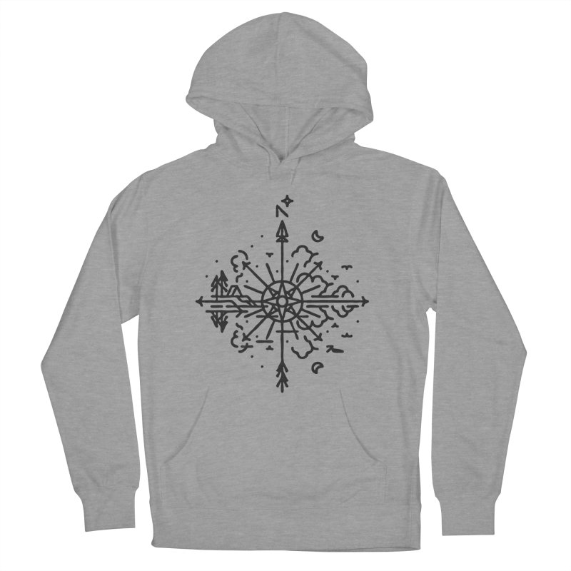 Outdoors Men's French Terry Pullover Hoody by Joshua Gille's Artist Shop