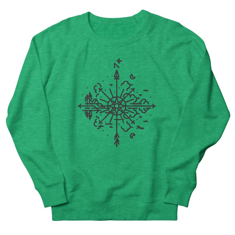 Outdoors Men's French Terry Sweatshirt by Joshua Gille's Artist Shop