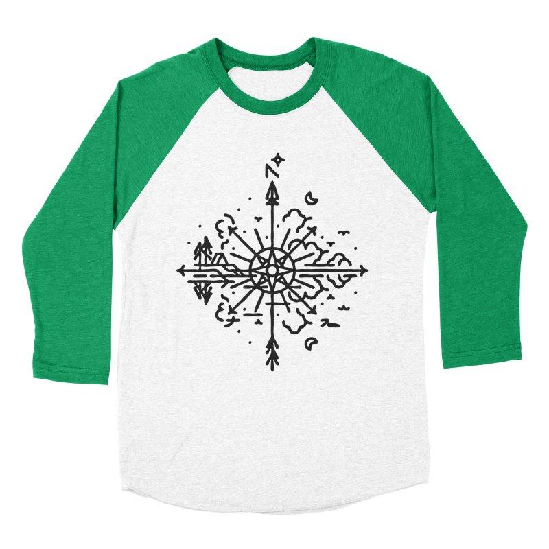 Outdoors Women's Baseball Triblend Longsleeve T-Shirt by Joshua Gille's Artist Shop