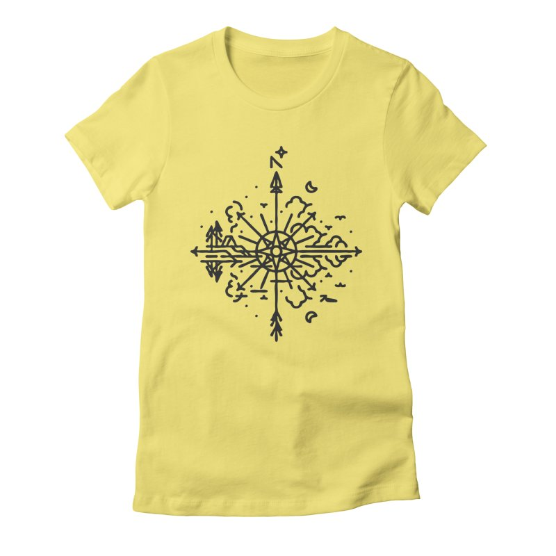 Outdoors Women's Fitted T-Shirt by Joshua Gille's Artist Shop