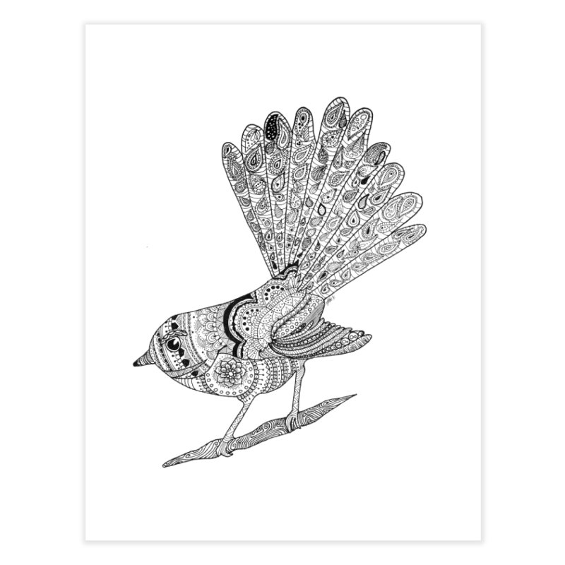 Paisley Fantail Home Fine Art Print by josmithcreative's Artist Shop