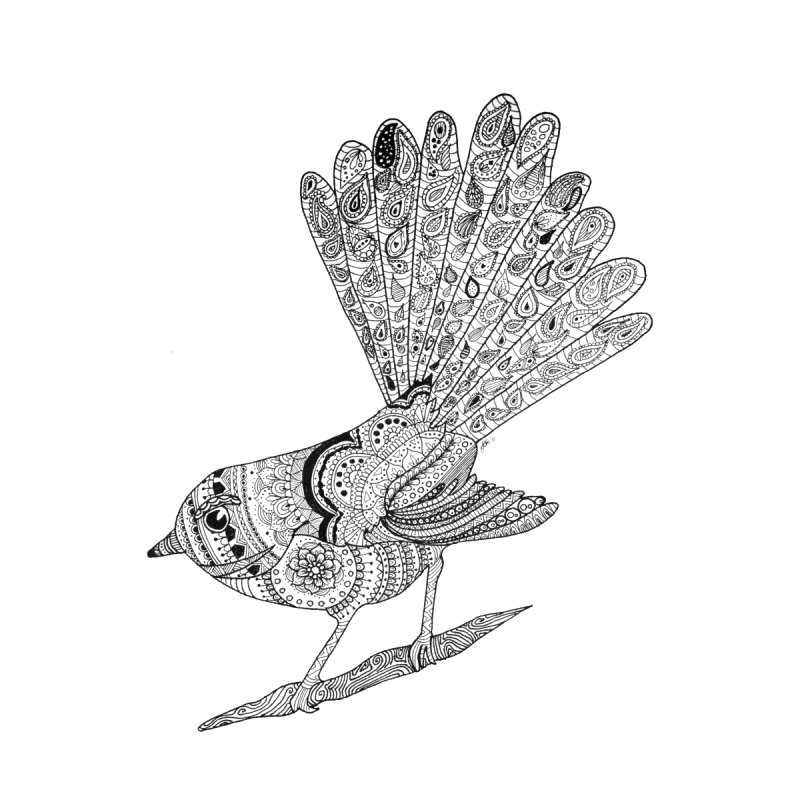 Paisley Fantail None  by josmithcreative's Artist Shop