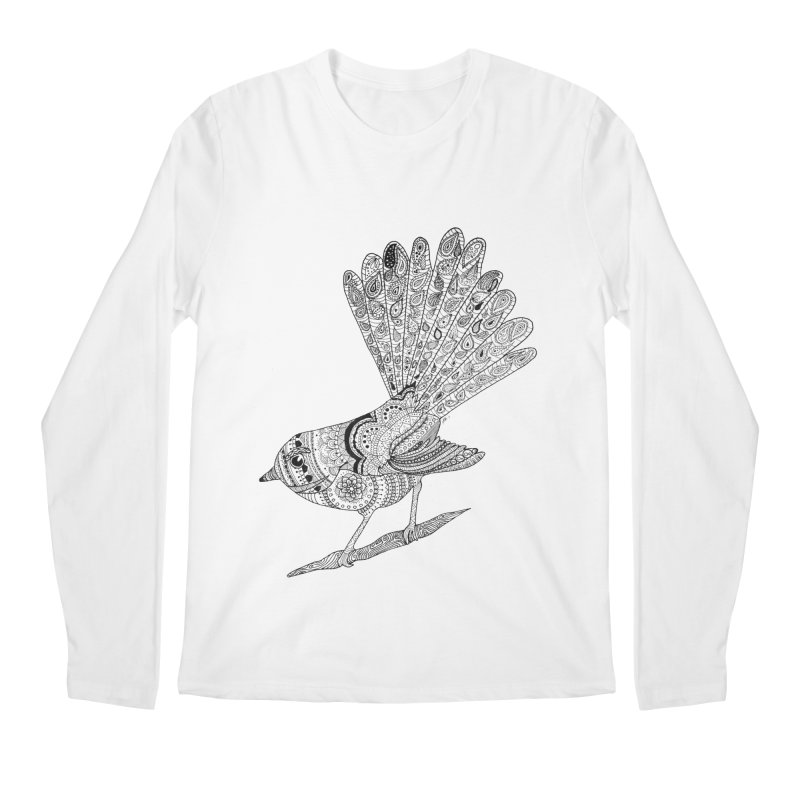 Paisley Fantail Men's Longsleeve T-Shirt by josmithcreative's Artist Shop