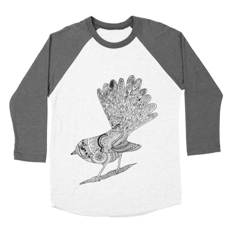 Paisley Fantail Women's Baseball Triblend T-Shirt by josmithcreative's Artist Shop