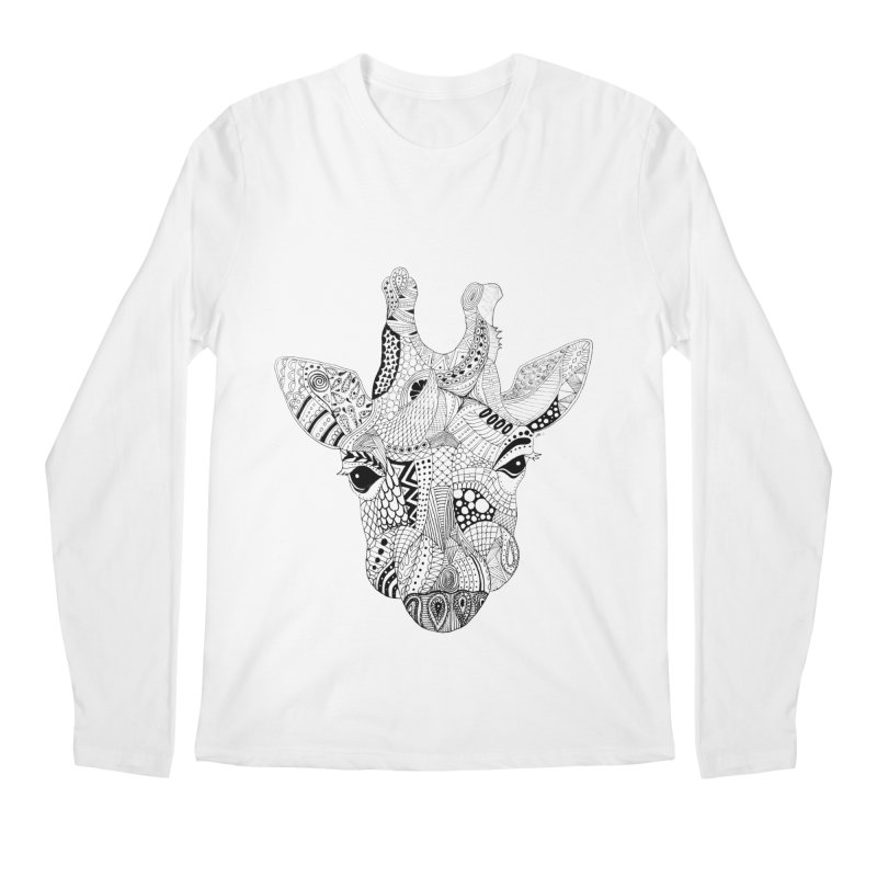 Paisley Giraffe Men's Longsleeve T-Shirt by josmithcreative's Artist Shop