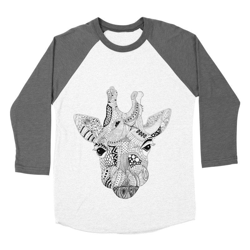 Paisley Giraffe Women's Baseball Triblend T-Shirt by josmithcreative's Artist Shop