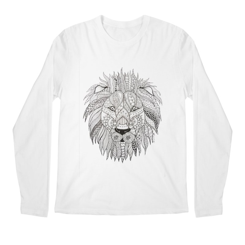 Paisley Lion Men's Longsleeve T-Shirt by josmithcreative's Artist Shop