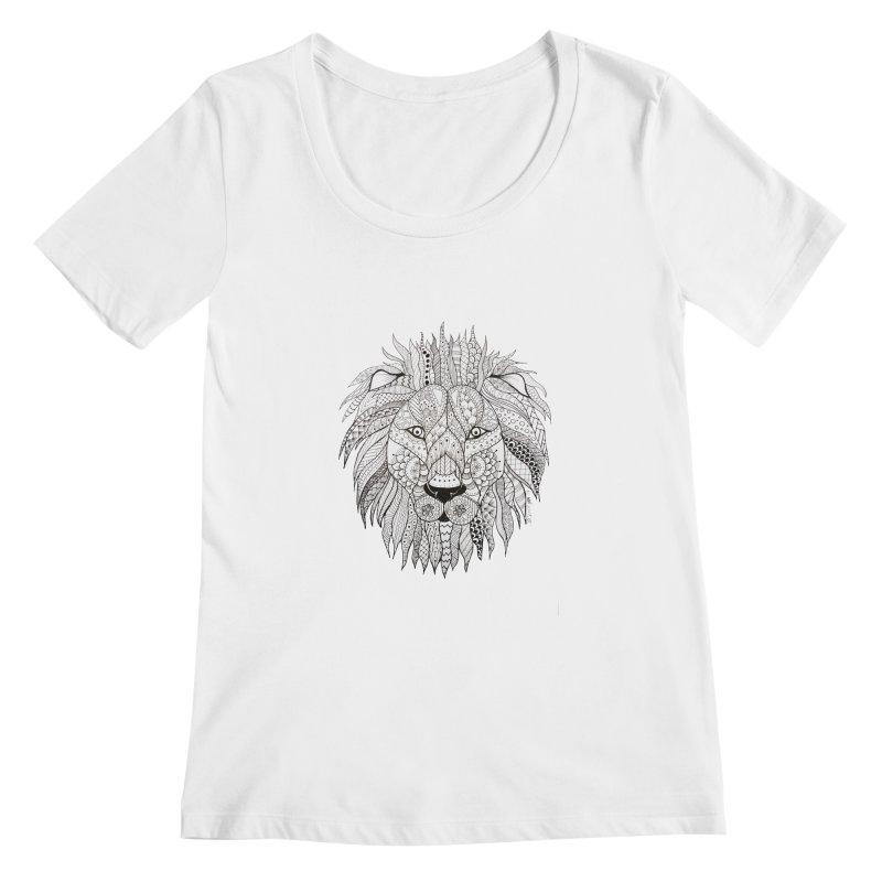 Paisley Lion Women's Scoopneck by josmithcreative's Artist Shop