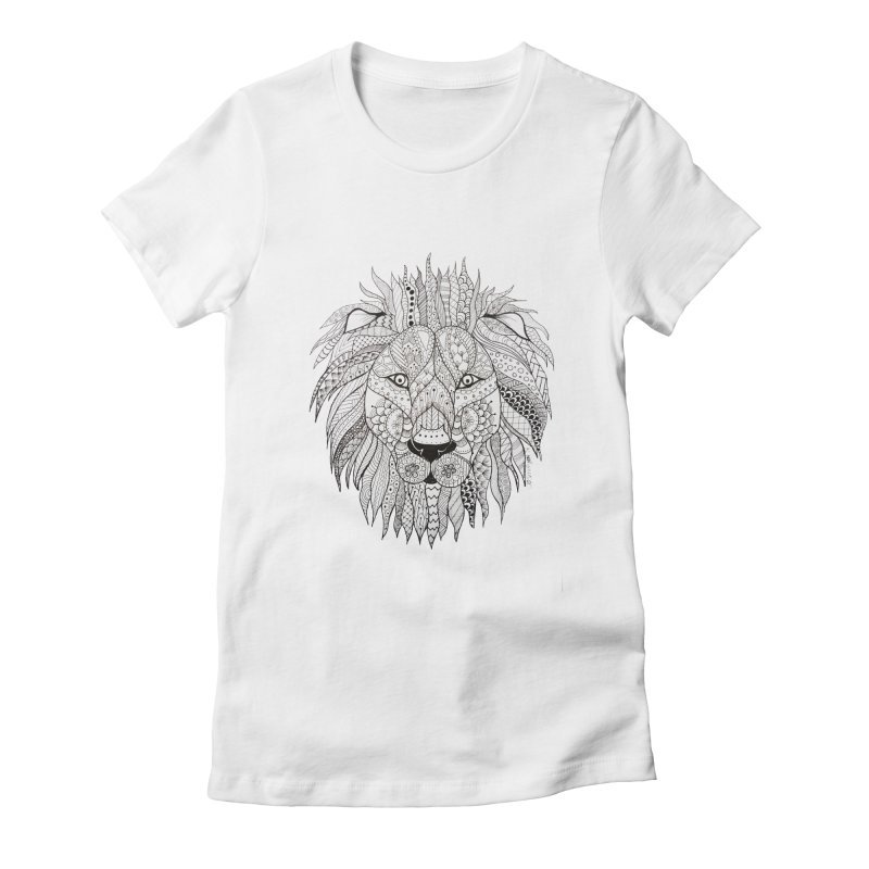 Paisley Lion Women's Fitted T-Shirt by josmithcreative's Artist Shop
