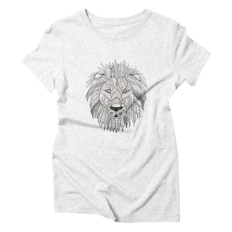 Paisley Lion Women's Triblend T-shirt by josmithcreative's Artist Shop