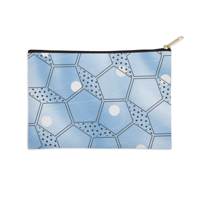 Shapes // Blue Accessories Zip Pouch by josmithcreative's Artist Shop