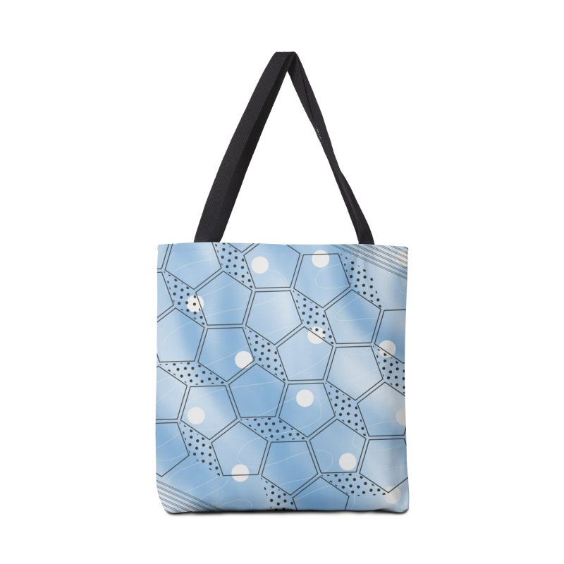 Shapes // Blue Accessories Bag by josmithcreative's Artist Shop