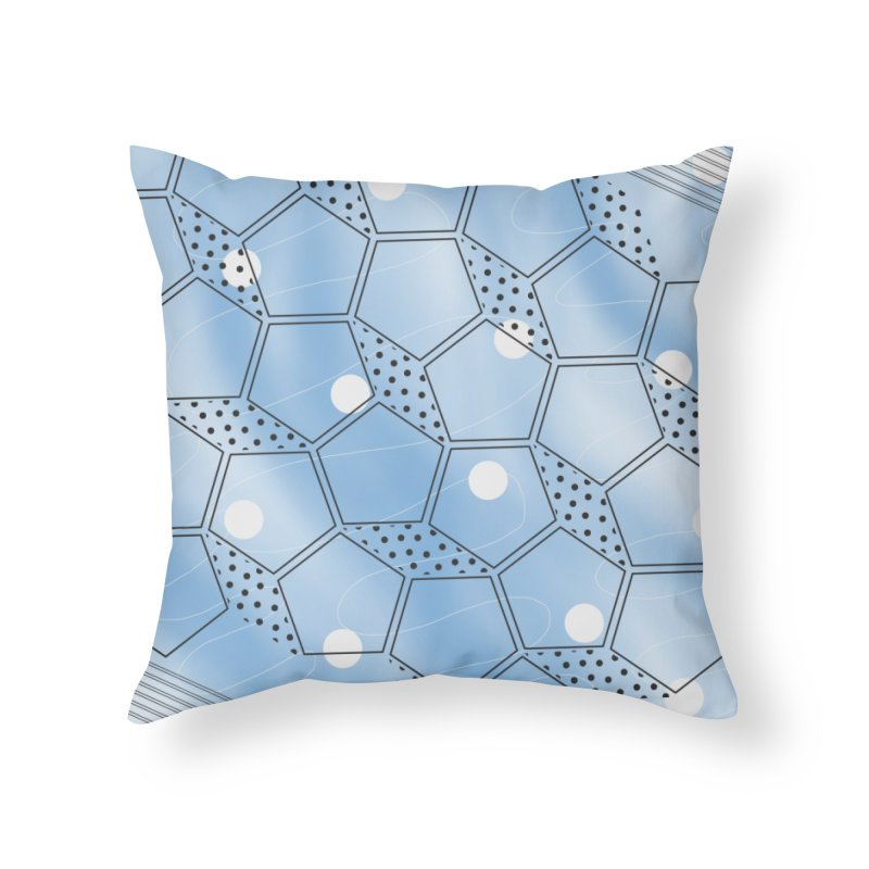 Shapes // Blue Home Throw Pillow by josmithcreative's Artist Shop