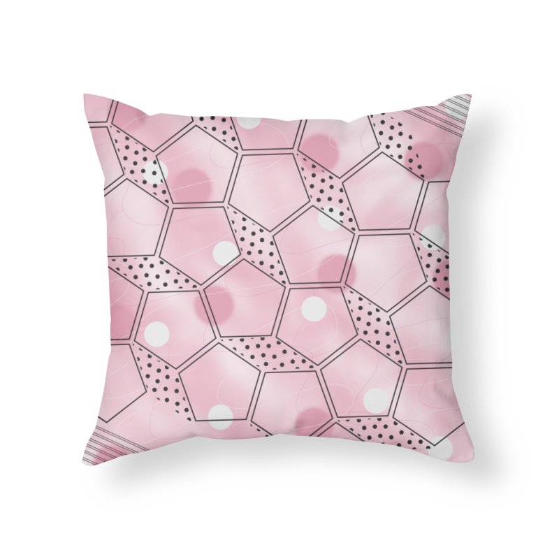 Shapes // Pink Home Throw Pillow by josmithcreative's Artist Shop
