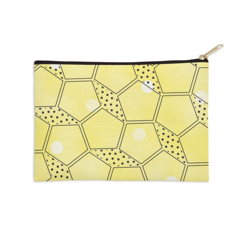 Shapes // Yellow Accessories Zip Pouch by josmithcreative's Artist Shop