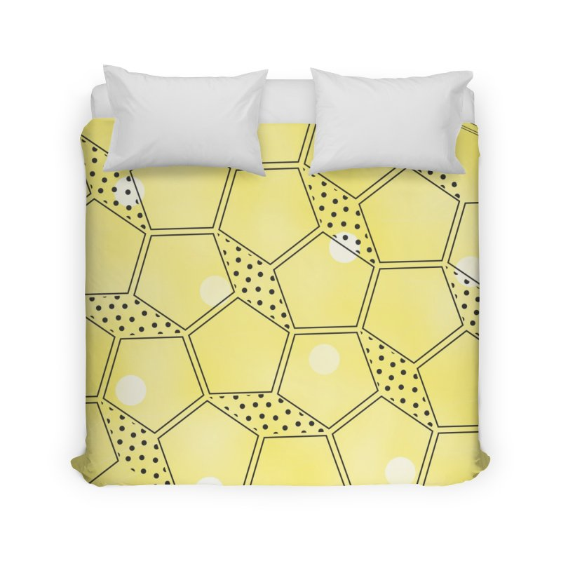 Shapes // Yellow Home Duvet by josmithcreative's Artist Shop