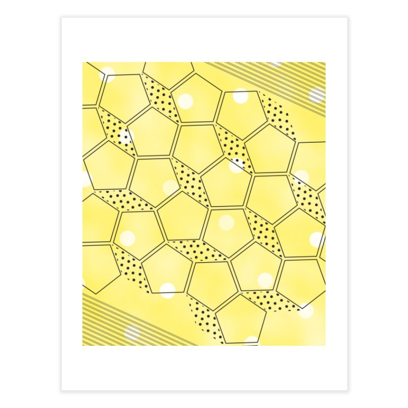 Shapes // Yellow Home Fine Art Print by josmithcreative's Artist Shop