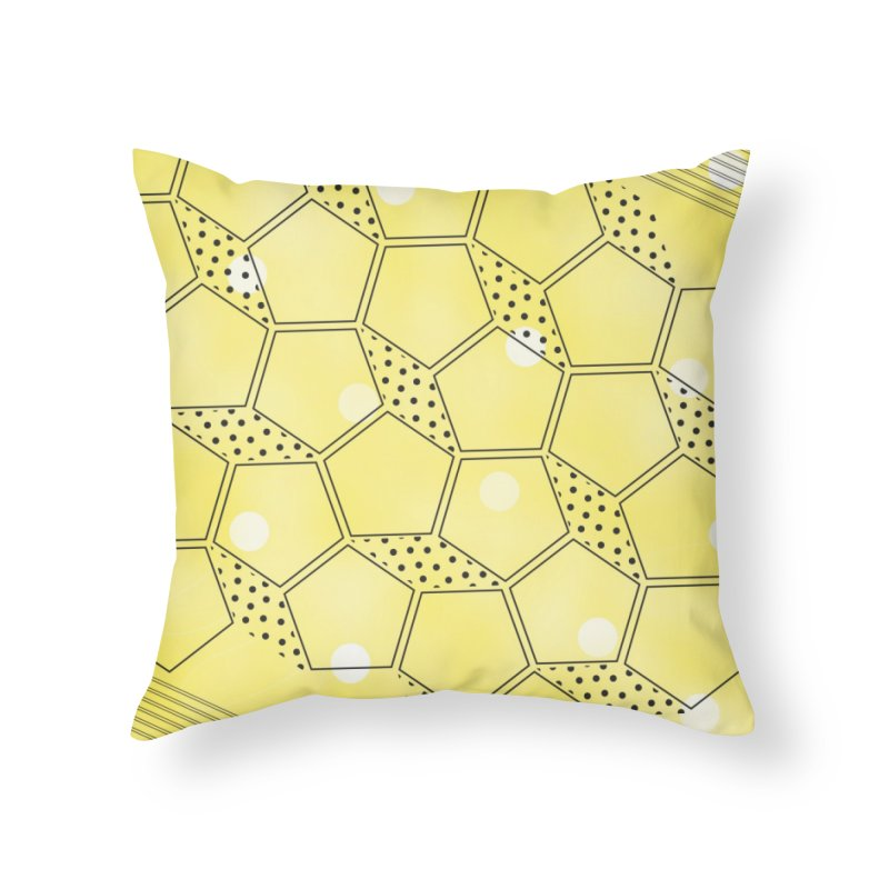 Shapes // Yellow Home Throw Pillow by josmithcreative's Artist Shop