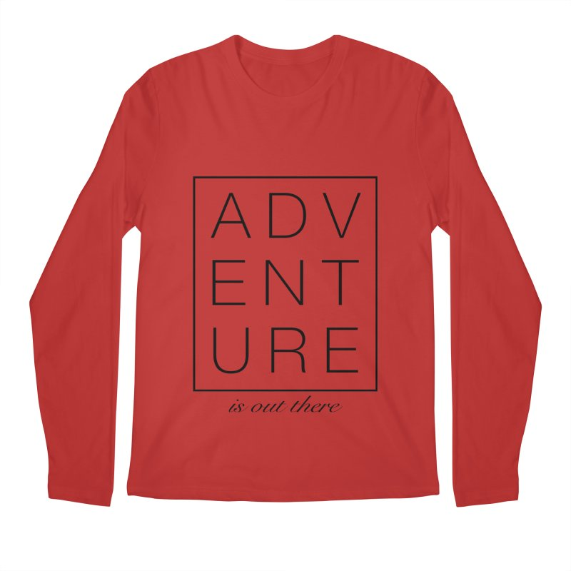 ADVENTURE // Black Men's Longsleeve T-Shirt by josmithcreative's Artist Shop