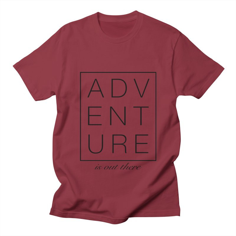 ADVENTURE // Black Men's T-shirt by josmithcreative's Artist Shop