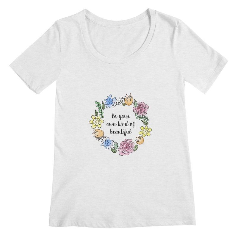 Flowers // Be Women's Scoopneck by josmithcreative's Artist Shop