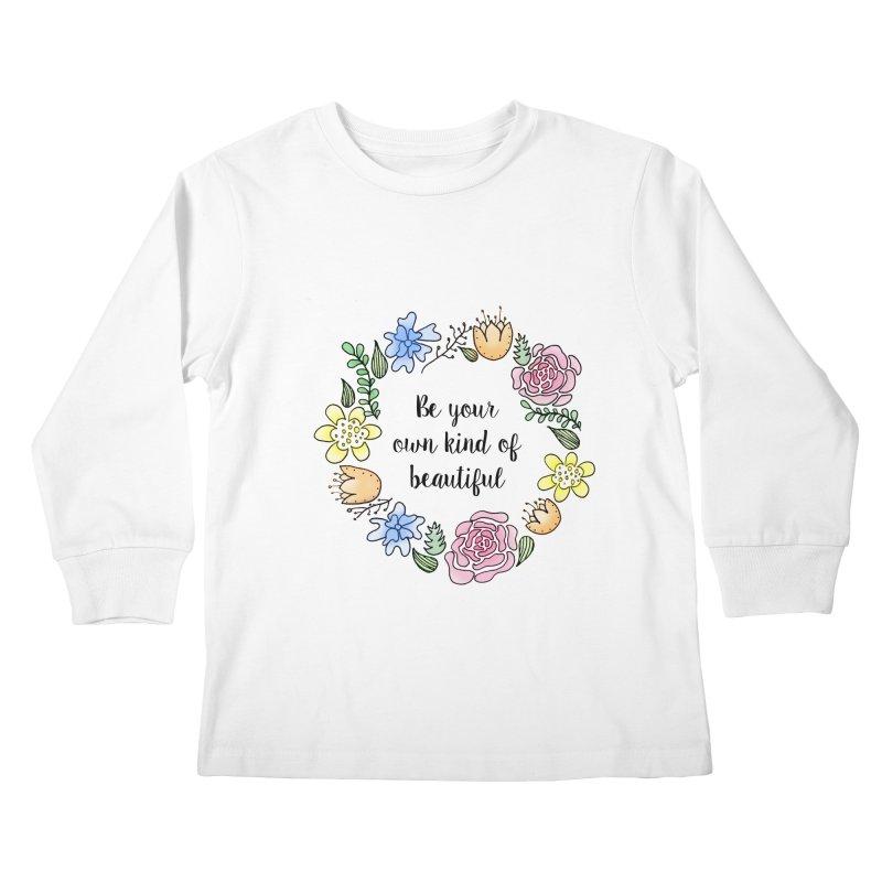 Flowers // Be Kids Longsleeve T-Shirt by josmithcreative's Artist Shop